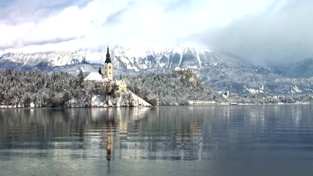 hd: lake of bled - lake bled stock videos & royalty-free footage