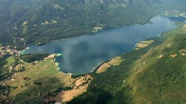 hd: lake of bohinj - julian alps stock videos and b-roll footage
