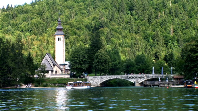 stockvideo's en b-roll-footage met hd: lake of bohinj - slovenië