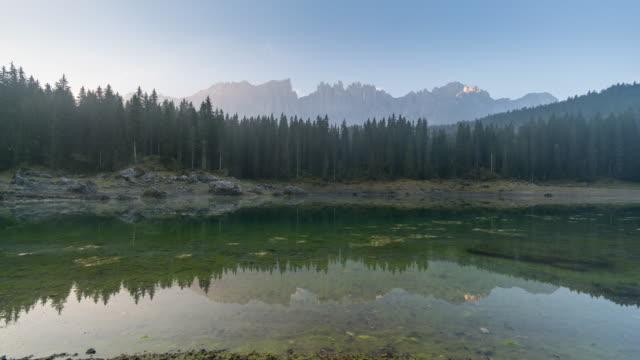 Lake of carezza sunrise time, Time Lapse