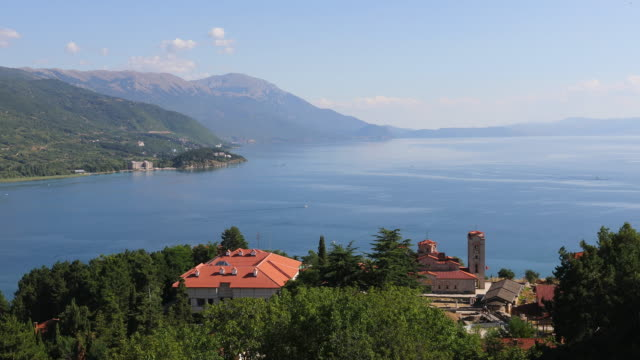 Lake Ohrid, general view of the Ohrid Lake.