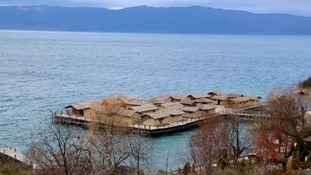 see ohrid lake - wiederaufbau stock-videos und b-roll-filmmaterial