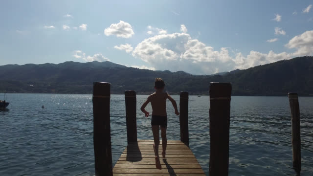 lake orta - pier stock videos & royalty-free footage