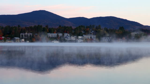 lake placid, new york - le quattro stagioni video stock e b–roll