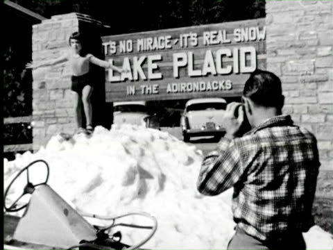 b/w zi lake placid one of the most holiday town of country, new york / audio - lake placid town stock videos and b-roll footage
