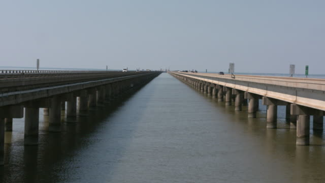 Lake Pontchartrain Causeway in New Orleans Louisiana USA on Thursday May 9 2019