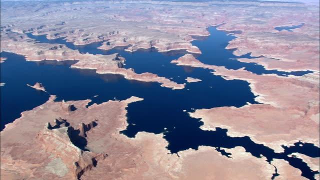 lake powell  - aerial view - utah,  san juan county,  united states - lake powell stock videos & royalty-free footage