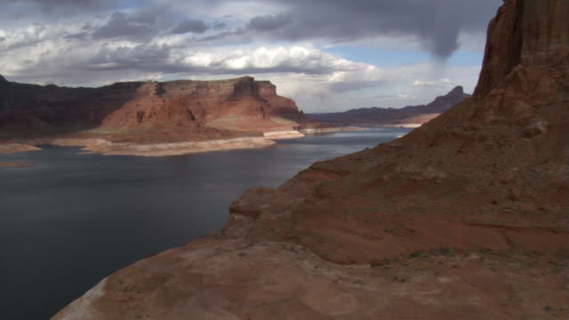 lake powell and stormy sky - lake powell stock videos & royalty-free footage