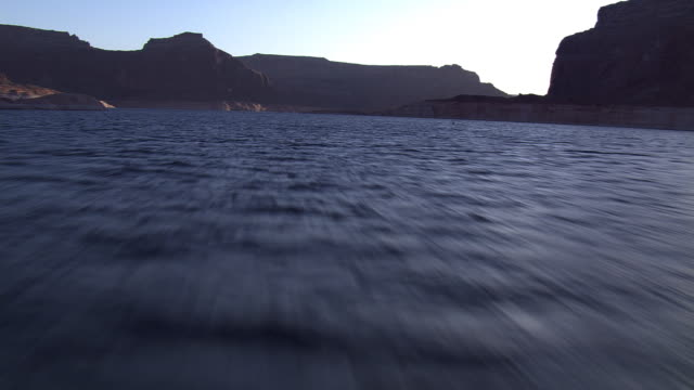 lake powell, dark water - lago powell video stock e b–roll