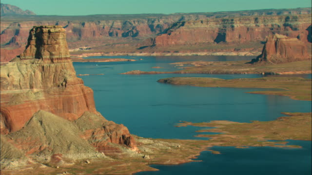 ms, ha, lake powell, glen canyon national recreation area, utah, usa - lago powell video stock e b–roll