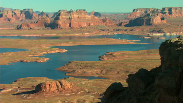 ws, ha, lake powell, glen canyon national recreation area, utah, usa - lago powell video stock e b–roll