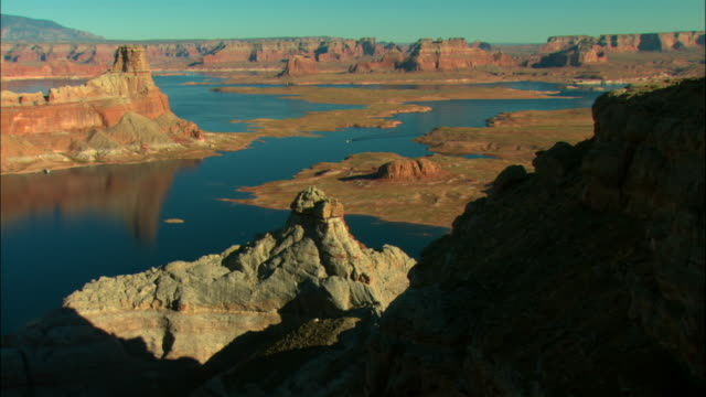 ws, pan, ha, lake powell, glen canyon national recreation area, utah, usa - lake powell stock videos & royalty-free footage