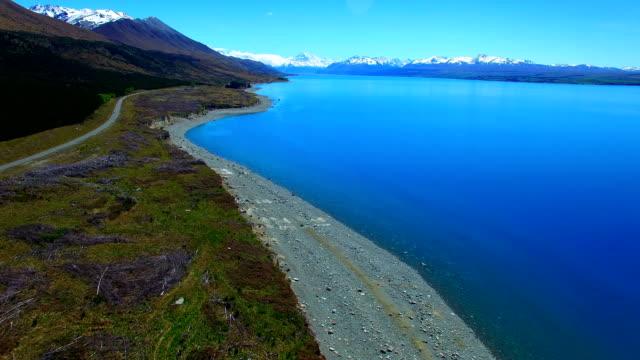 vidéos et rushes de lac pukaki - dépression terrestre