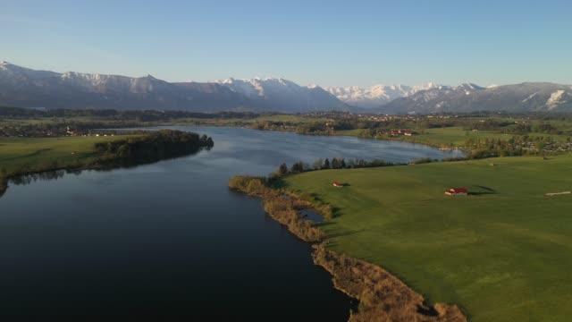 lake riegsee, bavaria, germany, europe - bavaria stock videos & royalty-free footage