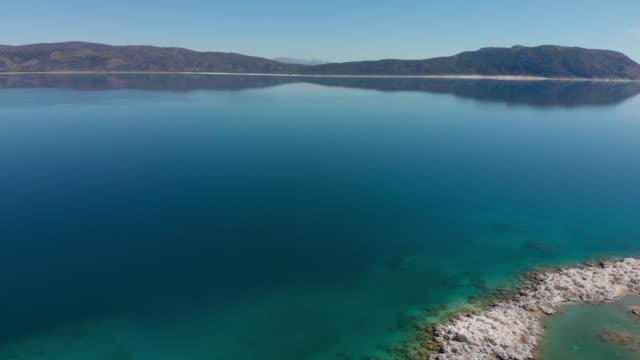 vídeos y material grabado en eventos de stock de lago salda, turquía - parque nacional crater lake