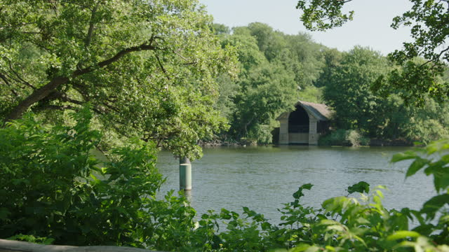 lake scenery / berlin, germany - shack stock videos & royalty-free footage