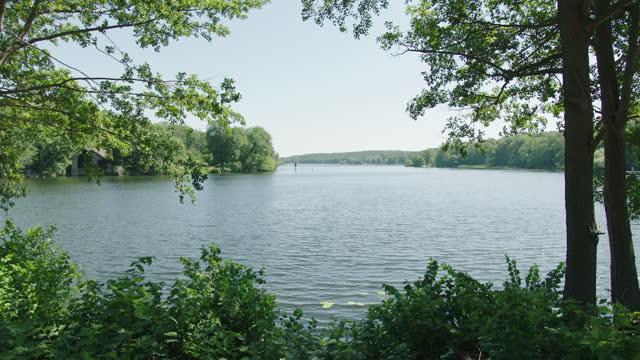 lake scenery / berlin, germany - clear sky stock videos & royalty-free footage