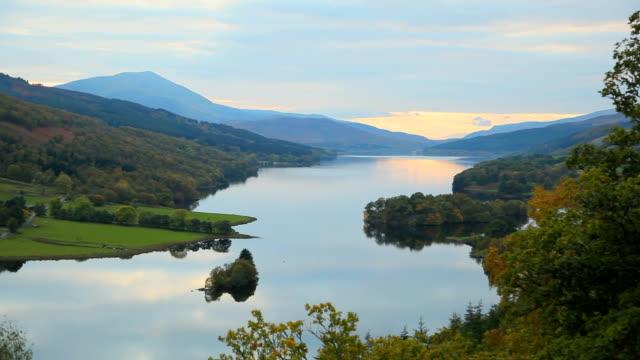 Lake Scotland pan sunset