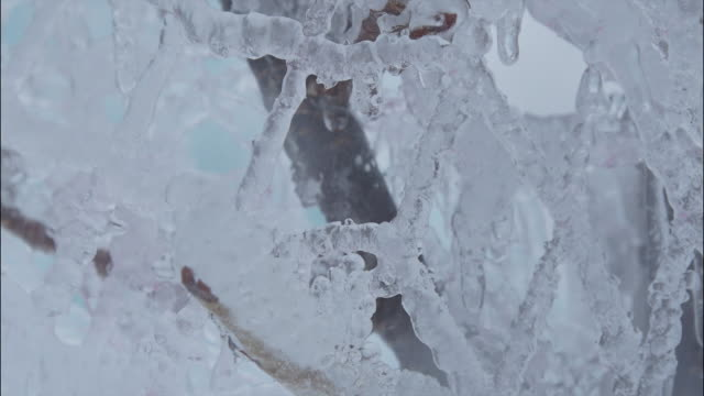 tl: lake shikotsu in the coldest part of winter - 凍った点の映像素材/bロール
