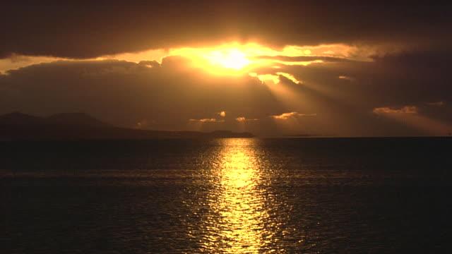 lake shinji at sunset, japan - shimane prefecture stock videos & royalty-free footage
