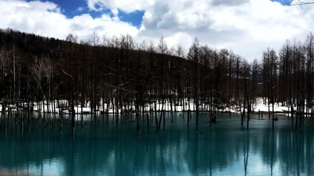 lake shiretoko, hokkaido, japan - hokkaido stock videos & royalty-free footage