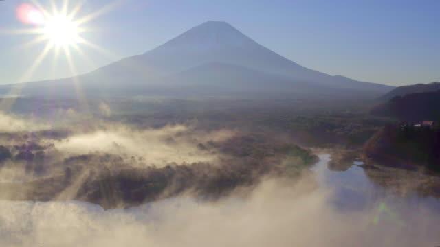 lake shoji and mt fuji, fuji hazone izu national park, japan - shizuoka prefecture stock videos and b-roll footage