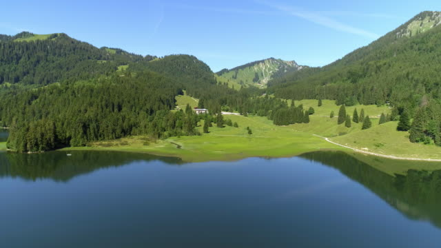 lake spitzingsee in the bavarian alps - bavarian alps stock videos & royalty-free footage