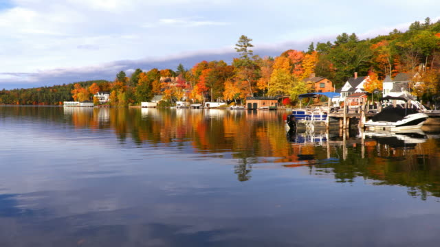 lake sunapee - region new england stock-videos und b-roll-filmmaterial