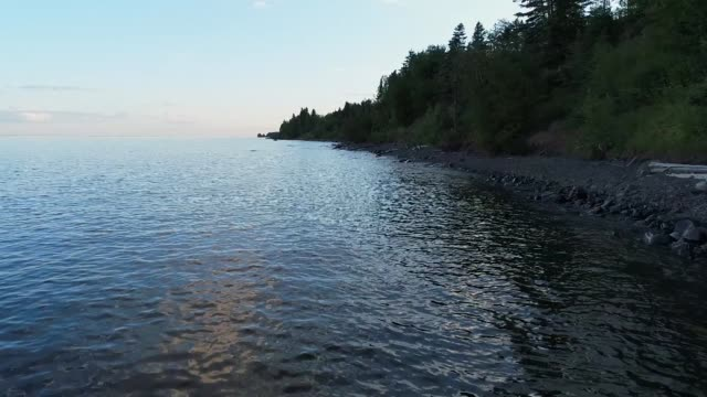 Lake Superior Shore in Northern Minnesota