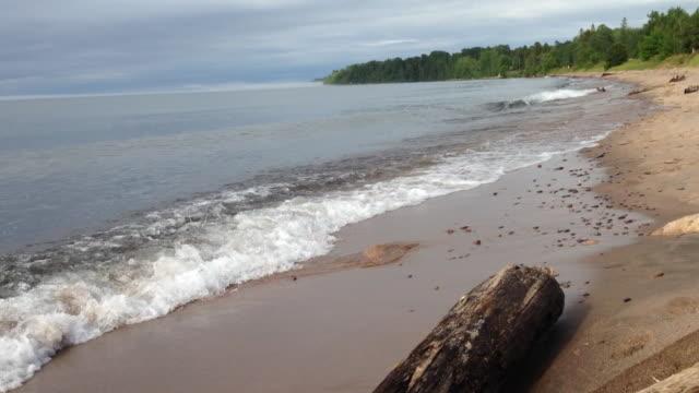 lake superior wisconsin - lago superiore video stock e b–roll