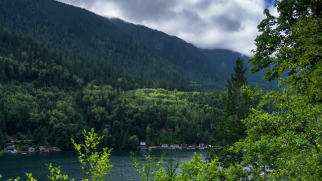 lake sutherland, washington - time lapse - olympic national park stock videos and b-roll footage