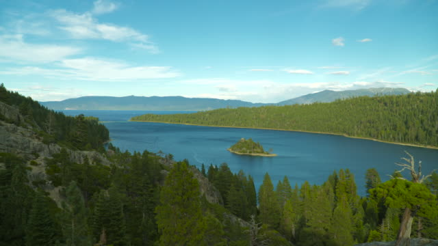 lake tahoe emerald bay 4k timelapse - state park stock videos & royalty-free footage