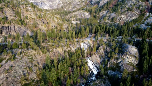 lake tahoe travel destination - aerial drone view of eagle falls - californian sierra nevada stock videos & royalty-free footage