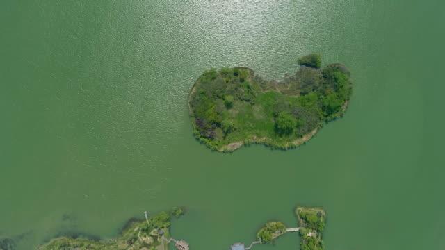lake taihu aerial view - liyao xie stock videos & royalty-free footage
