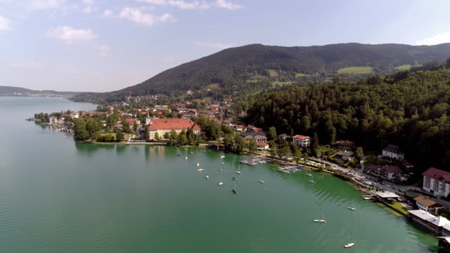 lake tegernsee and town of tegernsee - bavaria stock videos & royalty-free footage