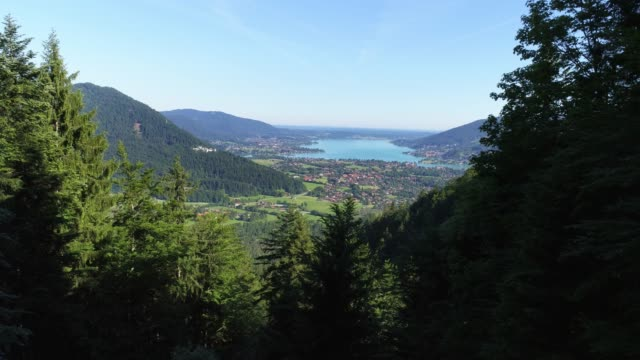 lake tegernsee in bavaria viewed from the south - bavaria stock videos & royalty-free footage