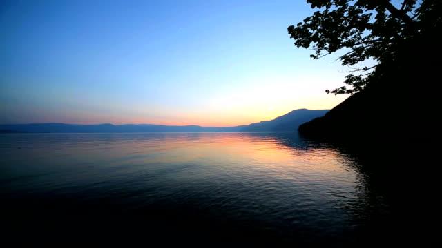lake towada at dusk - aomori prefecture stock videos & royalty-free footage