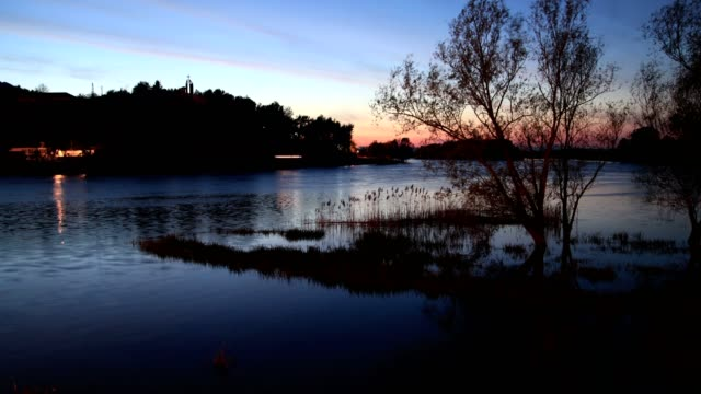 lake view at night - ネイチャーズウィンドウ点の映像素材/bロール