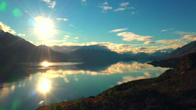 lake wakatipu flight - queenstown stock videos & royalty-free footage