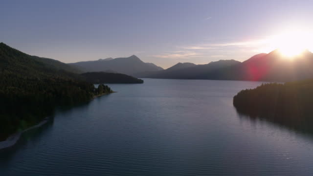Lake Walchensee In Upper Bavaria At Sunset