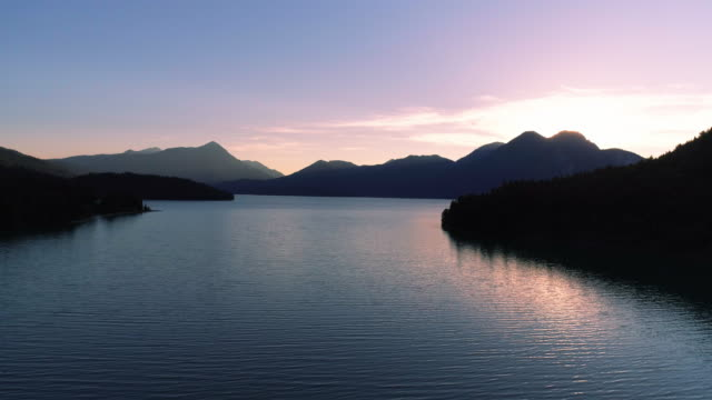 Lake Walchensee In Upper Bavaria At Sunset