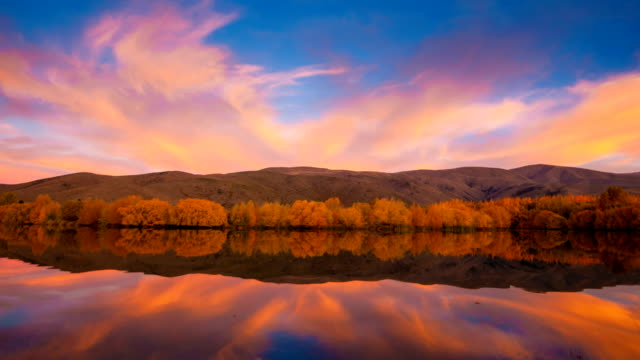 Lake Wanaka et de Hayes à l'automne