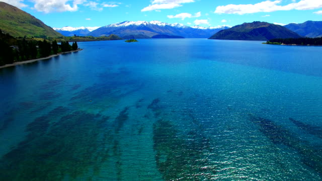lake wanaka - horizontal stock videos & royalty-free footage