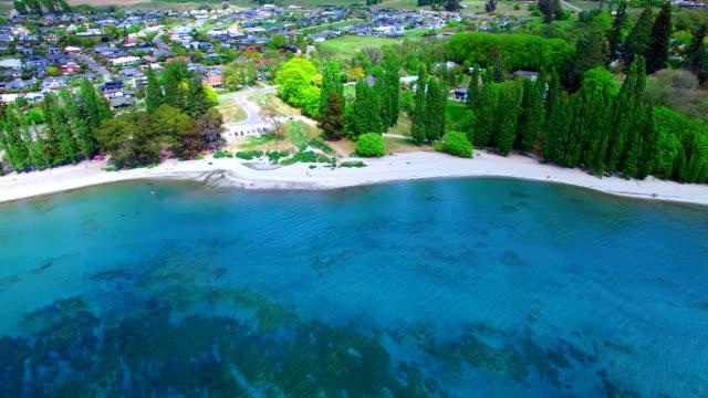 lake wanaka - cliff stock videos & royalty-free footage
