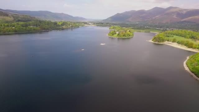 lake windermere aerial - lake stock videos & royalty-free footage