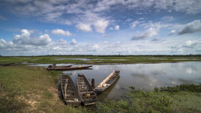 Lake With Fishingboats