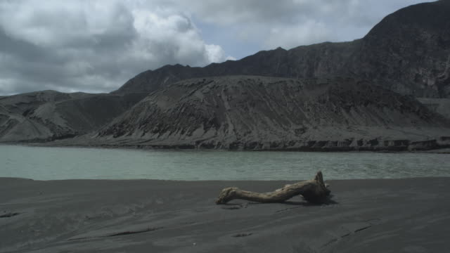 lake with volcanic beach, yaté lake, new caledonia, 2009 - french overseas territory stock videos & royalty-free footage