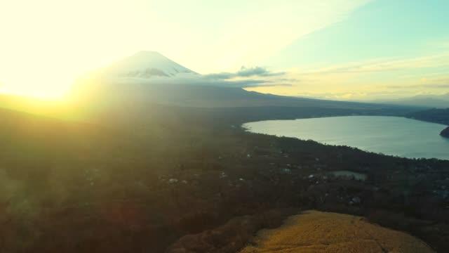 Lake Yamanaka and Mt Fuji at dusk