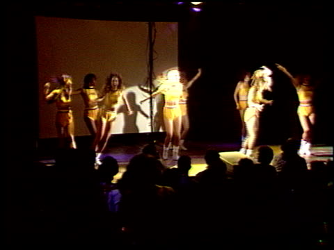 laker girls at the laker video 'back to back' premiere at roxy in west hollywood, california on january 1, 1988. - west hollywood stock videos & royalty-free footage