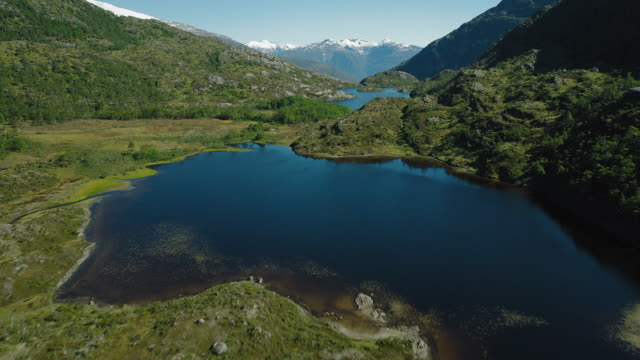 Lakes And Mountains In Remote Patagonia